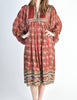 Phool Vintage Indian Silk Block Print Tent Dress - Amarcord Vintage Fashion  - 7