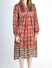 Phool Vintage Indian Silk Block Print Tent Dress - Amarcord Vintage Fashion  - 6