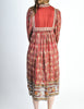 Phool Vintage Indian Silk Block Print Tent Dress - Amarcord Vintage Fashion  - 8