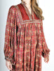 Phool Vintage Indian Silk Block Print Tent Dress - Amarcord Vintage Fashion  - 9