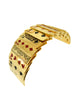 "Isabel Canovas Vintage Gold ""Gin"" Red Black Enamel Articulated Playing Card Bracelet"