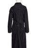 Issey Miyake Vintage Black Tufted Cotton Long Coat