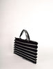 Issey Miyake Vintage Black & Silver Felt Accordion Pleated Bag - Amarcord Vintage Fashion  - 3