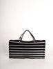 Issey Miyake Vintage Black & Silver Felt Accordion Pleated Bag - Amarcord Vintage Fashion  - 4