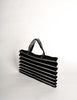 Issey Miyake Vintage Black & Silver Felt Accordion Pleated Bag - Amarcord Vintage Fashion  - 5
