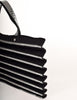Issey Miyake Vintage Black & Silver Felt Accordion Pleated Bag - Amarcord Vintage Fashion  - 6