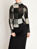 Issey Miyake Vintage Black Grey Checkered Pleated Top