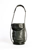 Issey Miyake Vintage Black Leather Bucket Bag - Amarcord Vintage Fashion  - 3