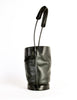 Issey Miyake Vintage Black Leather Bucket Bag - Amarcord Vintage Fashion  - 4