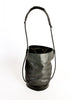 Issey Miyake Vintage Black Leather Bucket Bag - Amarcord Vintage Fashion  - 5