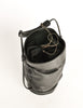 Issey Miyake Vintage Black Leather Bucket Bag - Amarcord Vintage Fashion  - 6