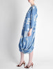 Issey Miyake Vintage Blue and White Cotton Geometric Draping Dress - Amarcord Vintage Fashion  - 6