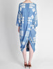 Issey Miyake Vintage Blue and White Cotton Geometric Draping Dress - Amarcord Vintage Fashion  - 5