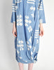Issey Miyake Vintage Blue and White Cotton Geometric Draping Dress - Amarcord Vintage Fashion  - 4