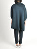 Issey Miyake Vintage Dark Blue Pleated Jacket & Pant Ensemble - Amarcord Vintage Fashion  - 7