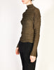 Issey Miyake Vintage Green Brown Pleated Top