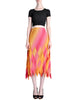 Issey Miyake Fète Vintage Pink and Yellow Harlequin Pleated Skirt - Amarcord Vintage Fashion  - 1