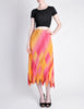 Issey Miyake Fète Vintage Pink and Yellow Harlequin Pleated Skirt - Amarcord Vintage Fashion  - 2