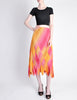Issey Miyake Fète Vintage Pink and Yellow Harlequin Pleated Skirt - Amarcord Vintage Fashion  - 3