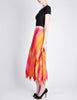 Issey Miyake Fète Vintage Pink and Yellow Harlequin Pleated Skirt - Amarcord Vintage Fashion  - 5