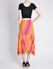 Issey Miyake Fète Vintage Pink and Yellow Harlequin Pleated Skirt - Amarcord Vintage Fashion  - 6