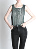 Issey Miyake Vintage Acid Wash Zig Zag Pleated Tank Top - Amarcord Vintage Fashion  - 2