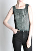 Issey Miyake Vintage Acid Wash Zig Zag Pleated Tank Top - Amarcord Vintage Fashion  - 3