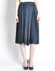 Issey Miyake Pleats Please Deep Blue Pleated Skirt - Amarcord Vintage Fashion  - 4