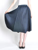 Issey Miyake Pleats Please Deep Blue Pleated Skirt - Amarcord Vintage Fashion  - 3