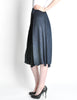 Issey Miyake Pleats Please Deep Blue Pleated Skirt - Amarcord Vintage Fashion  - 5