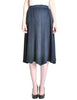 Issey Miyake Pleats Please Deep Blue Pleated Skirt - Amarcord Vintage Fashion  - 1
