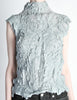 Issey Miyake Vintage Pale Blue Crinkle Pleat Top - Amarcord Vintage Fashion  - 4