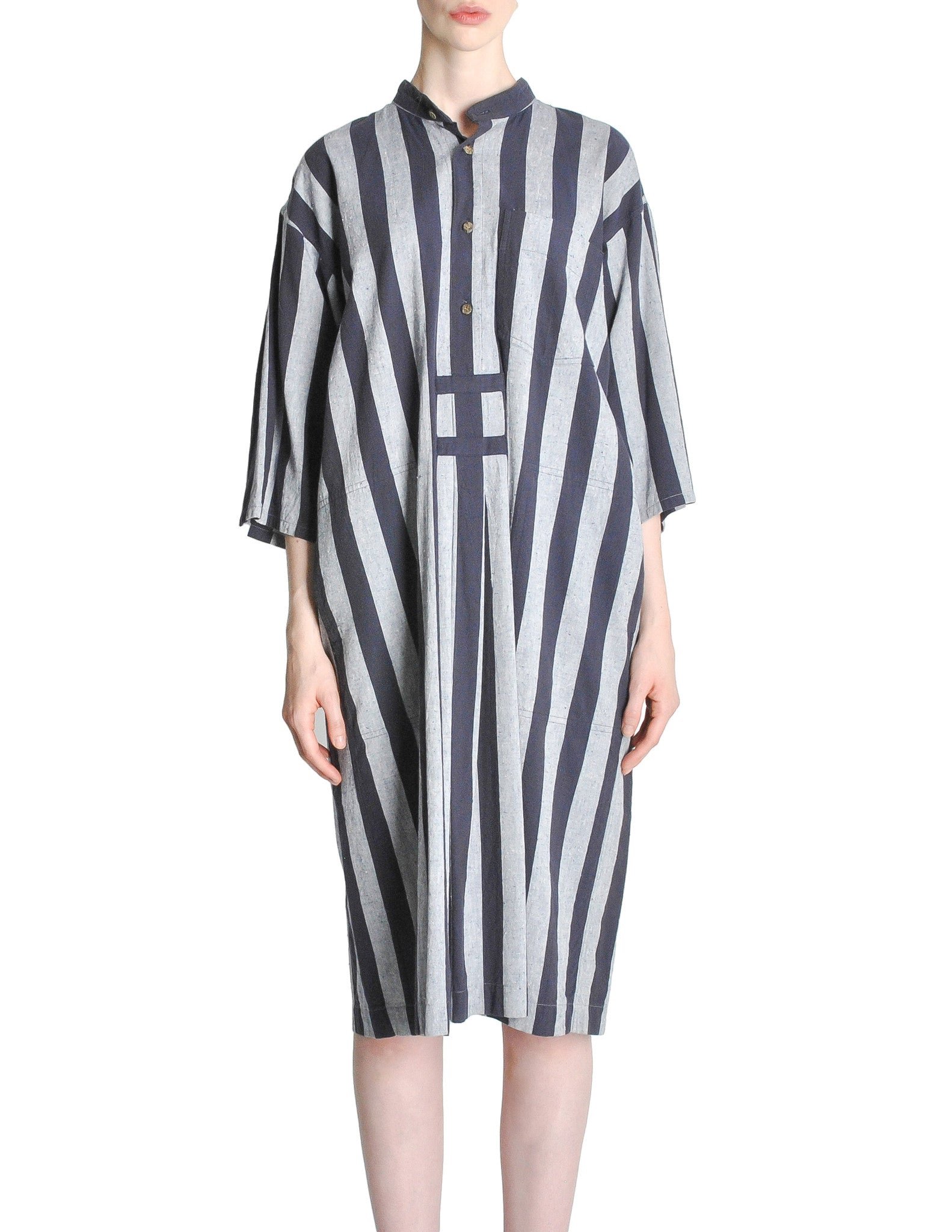 Issey Miyake Plantation Vintage Striped Dress - Amarcord Vintage Fashion  - 1