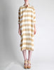 Issey Miyake Plantation Vintage Cream & Beige Striped Shirt Dress - Amarcord Vintage Fashion  - 2