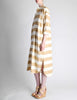 Issey Miyake Plantation Vintage Cream & Beige Striped Shirt Dress - Amarcord Vintage Fashion  - 3