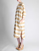 Issey Miyake Plantation Vintage Cream & Beige Striped Shirt Dress - Amarcord Vintage Fashion  - 5