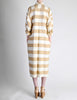 Issey Miyake Plantation Vintage Cream & Beige Striped Shirt Dress - Amarcord Vintage Fashion  - 6