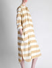 Issey Miyake Plantation Vintage Cream & Beige Striped Shirt Dress - Amarcord Vintage Fashion  - 4
