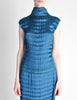 Issey Miyake Vintage Cerulean Blue Pleated Two Piece Top & Skirt Set - Amarcord Vintage Fashion  - 5