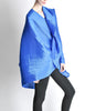 Issey Miyake Pleats Please Vintage Blue Pleated Multi-Functional Wrap Cape - Amarcord Vintage Fashion  - 12