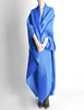 Issey Miyake Pleats Please Vintage Blue Pleated Multi-Functional Wrap Cape - Amarcord Vintage Fashion  - 8