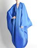Issey Miyake Pleats Please Vintage Blue Pleated Multi-Functional Wrap Cape - Amarcord Vintage Fashion  - 3