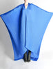 Issey Miyake Pleats Please Vintage Blue Pleated Multi-Functional Wrap Cape - Amarcord Vintage Fashion  - 5