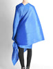 Issey Miyake Pleats Please Vintage Blue Pleated Multi-Functional Wrap Cape - Amarcord Vintage Fashion  - 6