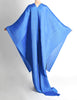Issey Miyake Pleats Please Vintage Blue Pleated Multi-Functional Wrap Cape - Amarcord Vintage Fashion  - 7