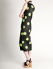 Issey Miyake Pleats Please Vintage Black & Green Polka Dot Dress - Amarcord Vintage Fashion  - 4