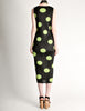 Issey Miyake Pleats Please Vintage Black & Green Polka Dot Dress - Amarcord Vintage Fashion  - 5