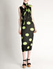 Issey Miyake Pleats Please Vintage Black & Green Polka Dot Dress - Amarcord Vintage Fashion  - 6