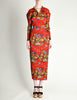 Issey Miyake Pleats Please Vintage Chinese Print Two Piece Top & Skirt Ensemble - Amarcord Vintage Fashion  - 4