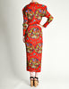 Issey Miyake Pleats Please Vintage Chinese Print Two Piece Top & Skirt Ensemble - Amarcord Vintage Fashion  - 7